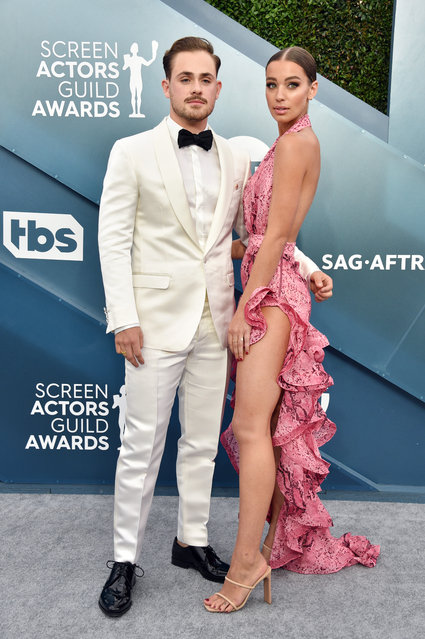 (L-R) Dacre Montgomery and Liv Pollock attend the 26th Annual Screen ActorsGuild Awards at The Shrine Auditorium on January 19, 2020 in Los Angeles, California. (Photo by Gregg DeGuire/Getty Images for Turner)