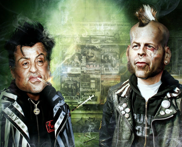 BRUCE WILLIS & SYLVESTER STALLONE IN NEWYORKERS PUNK