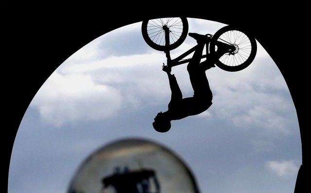 Louis Reboul of France competes during the Swatch Prime Line Mountainbike finale at Munich Olympic Park in Munich, Germany, on Jule 20, 2014. (Photo by Alexander Hassenstein/Bongarts/Getty Images)