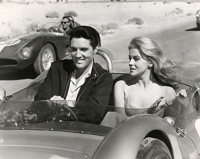 """Actress Ann-Margret and actor and singer Elvis Presley in the film """"Viva Las Vegas"""", 1964. (Photo by Silver Screen Collection/Getty Images)"""
