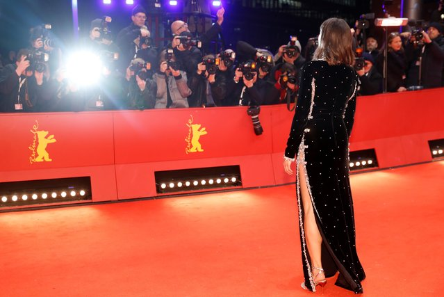 """Jury member Berenice Bejo poses on the red carpet as she arrives for the screening of the movie """"My Salinger Year"""" at the 70th Berlinale International Film Festival in Berlin, Germany, February 20, 2020. (Photo by Michele Tantussi/Reuters)"""