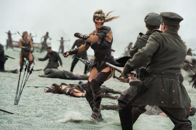 "This image released by Warner Bros. Entertainment shows Robin Wright in a scene from ""Wonder Woman"", in theaters on June 2. (Photo by Alex Bailey/Warner Bros. Entertainment via AP Photo)"