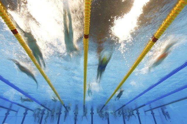 Rio Olympics, Swimming training, Olympic Aquatics Stadium, Rio de Janeiro, Brazil on August 4, 2016. Athletes training. (Photo by Michael Dalder/Reuters)