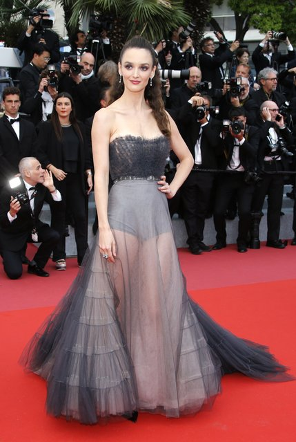 """Actress Charlotte Le Bon attends the screening of """"Blackkklansman"""" during the 71st annual Cannes Film Festival at Palais des Festivals on May 14, 2018 in Cannes, France. (Photo by Jean-Paul Pelissier/Reuters)"""