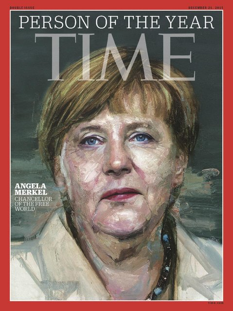 In this image provided by Time Magazine, Wednesday, December 9, 2015, German Chancellor Angela Merkel is featured as Time's Person of the Year. The magazine praises her leadership on everything from Syrian refugees to the Greek debt crisis. (Photo by Time Magazine via AP Photo)