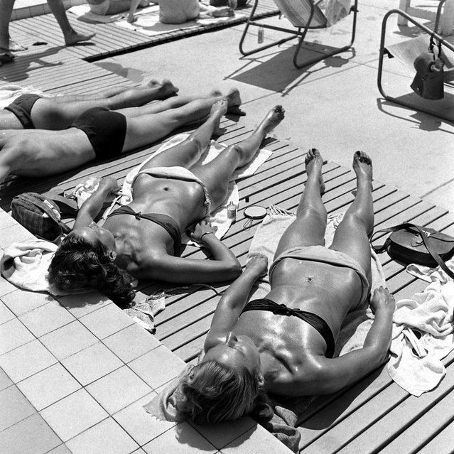 Sunbathing in France, 1945. (Photo by Ralph Morse/Time & Life Pictures/Getty Images)