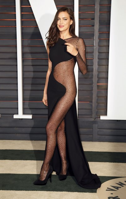 Model Irina Shayk arrives at the 2015 Vanity Fair Oscar Party in Beverly Hills, California February 22, 2015. (Photo by Danny Moloshok/Reuters)