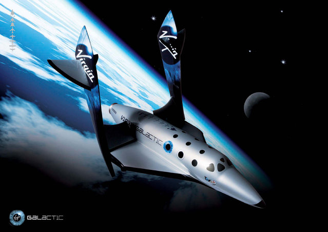 This undated image provided by Virgin Galactic shows Virgin Galactic's first SpaceShipTwo, an air-launched suborbital spaceplane type designed for space tourism. The most prominent space tourism program, the commercial space line founded by adventurer-business mogul Sir Richard Branson will use a winged rocket plane dubbed SpaceShipTwo, successor to SpaceShipOne, which in 2004 won the $10 million Ansari X Prize that was intended to spur the industry's development. (Photo by Virgin Galactic via AP Photo)