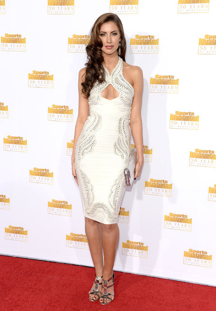 Model Katherine Webb attends NBC and Time Inc. celebrate the 50th anniversary of the Sports Illustrated Swimsuit Issue at Dolby Theatre on January 14, 2014 in Hollywood, California. (Photo by Dimitrios Kambouris/Getty Images)