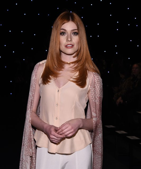 Actress Kat McNamara attends the Oday Shakar fashion show during New York Fashion Week at Pier 59 on February 10, 2017 in New York City. (Photo by Ilya S. Savenok/Getty Images)
