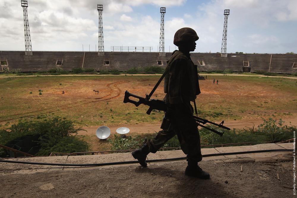 African Union Peacekeepers Patrol Mogadishu After Al-Shabab Militants Withdraw