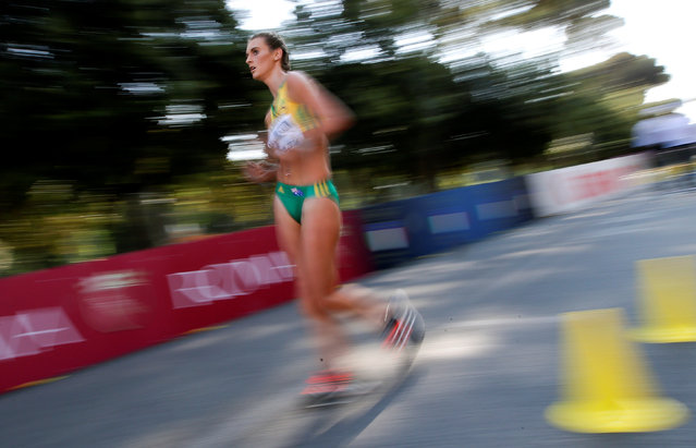 Tayla Billington of Australia competes during the junior women's 10 kilometres race walk at the World Race Walking Team Championships in Rome, Italy, May 7, 2016. (Photo by Max Rossi/Reuters)