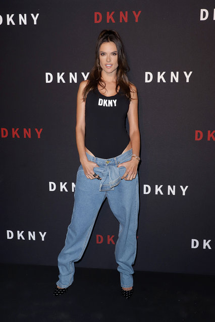 Alessandra Ambrosio attends as DKNY turns 30 with special live performances by Halsey and The Martinez Brothers at St. Ann's Warehouse on September 09, 2019 in New York City. (Photo by John Parra/Getty Images for DKNY)