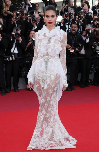 """Sara Sampaio attends """"The Killing Of A Sacred Deer"""" screening during the 70th annual Cannes Film Festival at Palais des Festivals on May 22, 2017 in Cannes, France. (Photo by Matt Baron/BEI/Shutterstock)"""