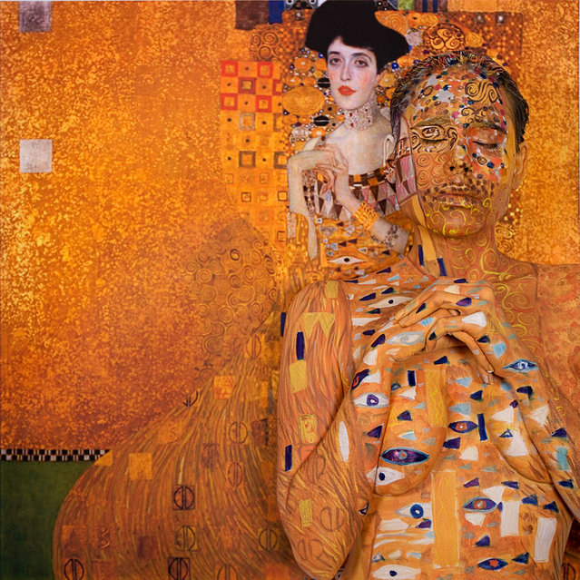 Titled 35,000,000 after the price paid for the Portrait of Adele Bloch-Bauer by Gustav Klimt. (Photo by Trina Merry/Caters News)