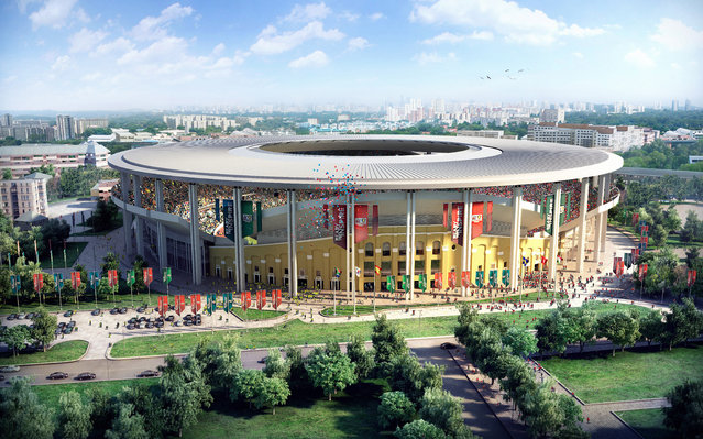 In this handout artists impression provided by the Russia 2018 Organising Commitee, the Ekaterinberg Stadium is shown as proposed and presented as part of the Russia 2018 World Cup bid, on September 29, 2011 in Russia. (Illustration by Russia 2018 via Getty Images)