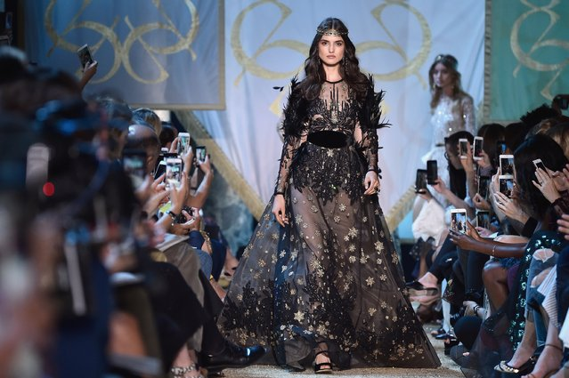 A model walks the runway during the Elie Saab  Haute Couture Fall/Winter 2017-2018 show as part of Haute Couture Paris Fashion Week on July 5, 2017 in Paris, France. (Photo by Pascal Le Segretain/Getty Images)