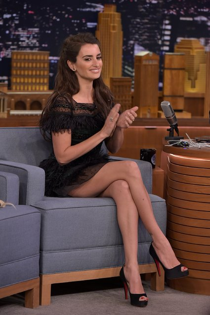 "Penelope Cruz visits ""The Tonight Show Starring Jimmy Fallon"" at NBC Studios on February 10, 2016 in New York City. (Photo by Theo Wargo/Getty Images for NBC)"