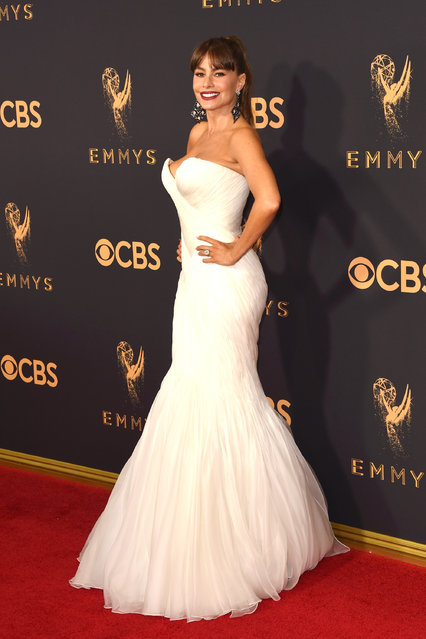 Actor Sofia Vergara attends the 69th Annual Primetime Emmy Awards at Microsoft Theater on September 17, 2017 in Los Angeles, California. (Photo by J. Merritt/Getty Images)