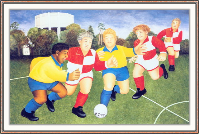 Footballers on the Downs. Artwork by Beryl Cook