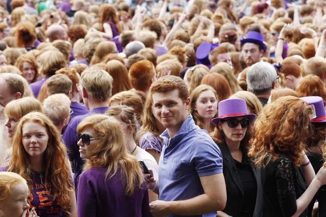 "People with red hair from all over the world gather on ""Roodharigendag"" (Redhead Day) in Breda. (Photo by Arie Kievit/EPA)"