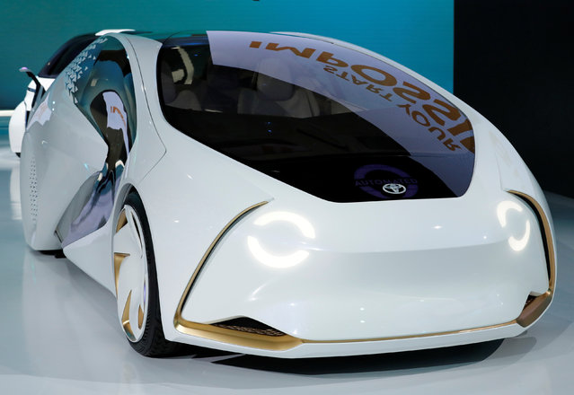 Toyota Motor Corp. displays the company's Concept-i Ride series during media preview of the 45th Tokyo Motor Show in Tokyo, Japan on October 25, 2017. (Photo by Kim Kyung-Hoon/Reuters)