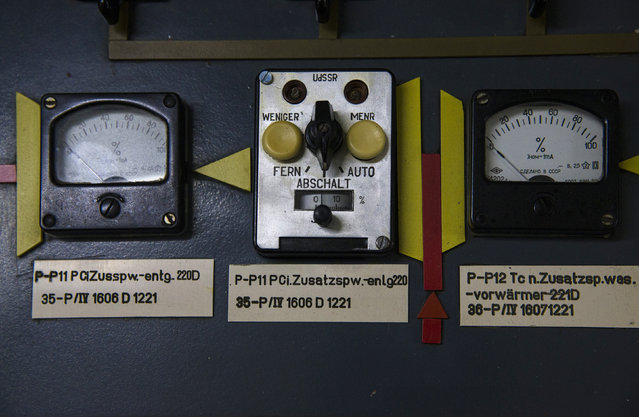 A view of the switches at a control board is seen inside the decommissioned Unit Six of the Greifswald nuclear power station outside Lubmin August 5, 2014. (Photo by Thomas Peter/Reuters)