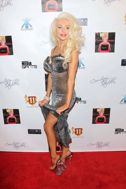 """Courtney Stodden celebrates her new """"Reality"""" music video at Eleven NightClub on February 9, 2013 in West Hollywood, California. (Photo by JB Lacroix/WireImage)"""