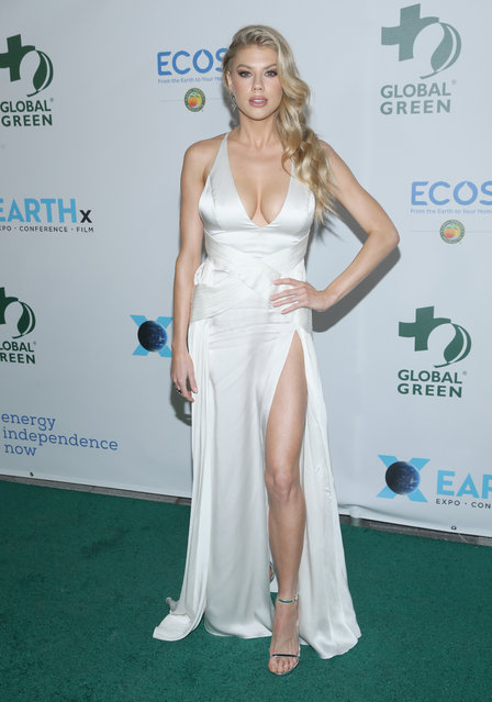 Charlotte McKinney attends the 15th Annual Global Green Pre-Oscar Gala on February 28, 2018 in Los Angeles, California. (Photo by Phillip Faraone/Getty Images)