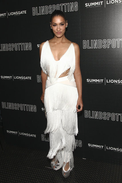 """Janina Gavankar attends a special screening of """"Blindspotting"""", hosted by Lionsgate and The Cinema Society, at the Angelika Film Center on Monday, July 16, 2018, in New York. (Photo by Andy Kropa/Invision/AP Photo)"""