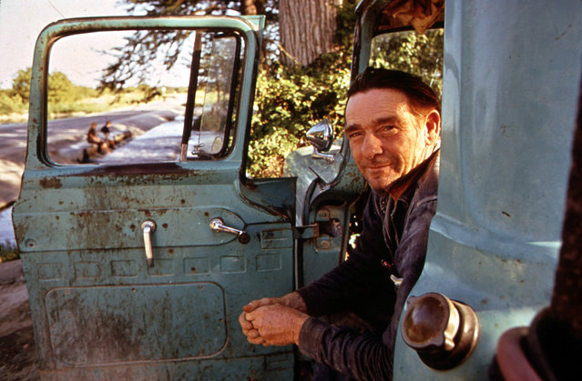 Woodrow Wilson, one of Leakey's local characters, in his pickup, June 1972. He never works, but sits staring at the river from 7 a.m. until sunset. (Photo by Marc St. Gil/NARA via The Atlantic)