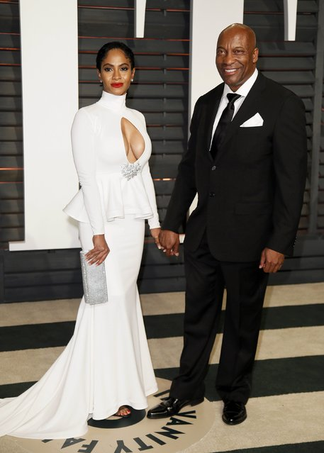 Director John Singleton and a guest arrive at the 2015 Vanity Fair Oscar Party in Beverly Hills, California February 22, 2015. (Photo by Danny Moloshok/Reuters)