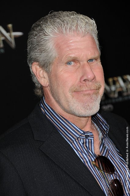 Ron Perlman attends the world premiere of Conan The Barbarian