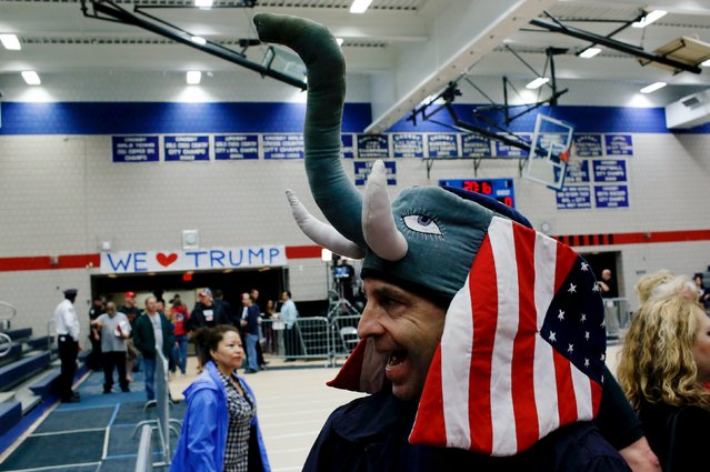 Supporters of U.S. Republican presidential candidate Donald Trump arrive to attend a campaign rally at Crosby High School, in Waterbury, Connecticut, U.S., April 23, 2016. (Photo by Eduardo Munoz/Reuters)
