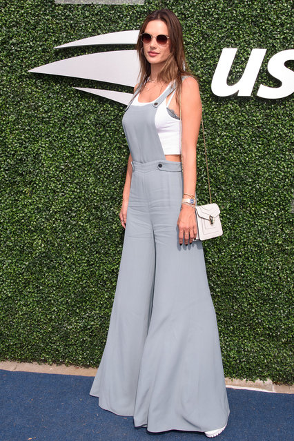 US Open Women's Tennis Final-Celebrity Arrivals Flushing Meadow Park, NY. on September 7, 2019. Pictured: Alessandra Ambrosio. (Photo by Janet Mayer/Splash News and Pictures)