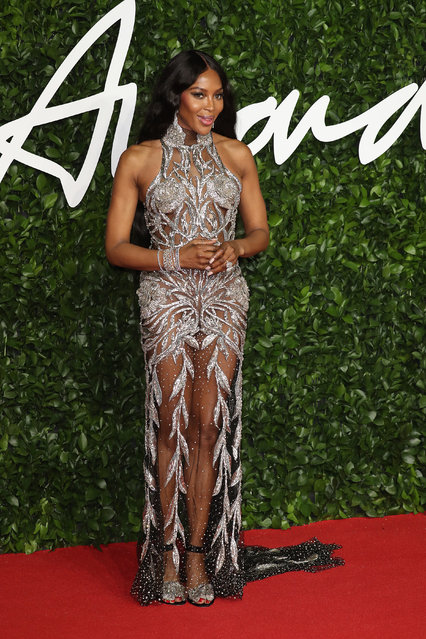 Naomi Campbell arrives at The Fashion Awards 2019 held at Royal Albert Hall on December 02, 2019 in London, England. (Photo by Neil Mockford/FilmMagic)
