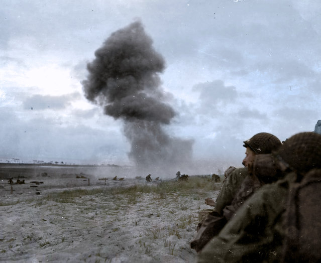 USS LST-388 landing at Normandy Beach, US Army forces making a desperate bid to fight German forces on Utah Beach and marching through Po Valley, June 1944. (Photo by Jared Enos/Mediadrumworld.com)