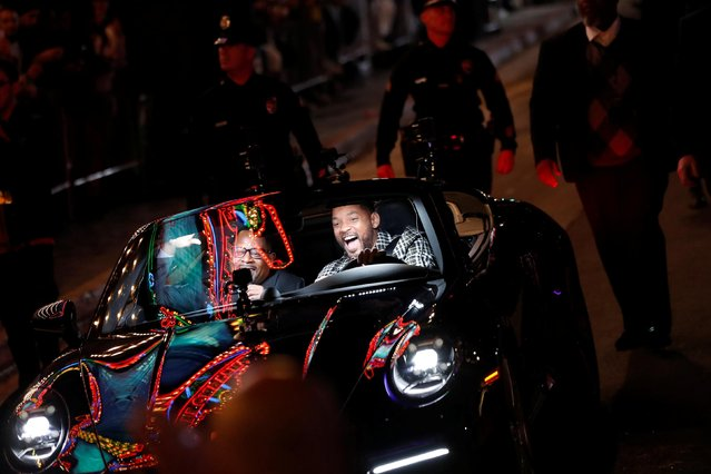 """Cast members Will Smith (R) and Martin Lawrence arrive at the premiere of """"Bad Boys for Life"""" in Los Angeles, California, U.S., January 14, 2020. (Photo by Mario Anzuoni/Reuters)"""
