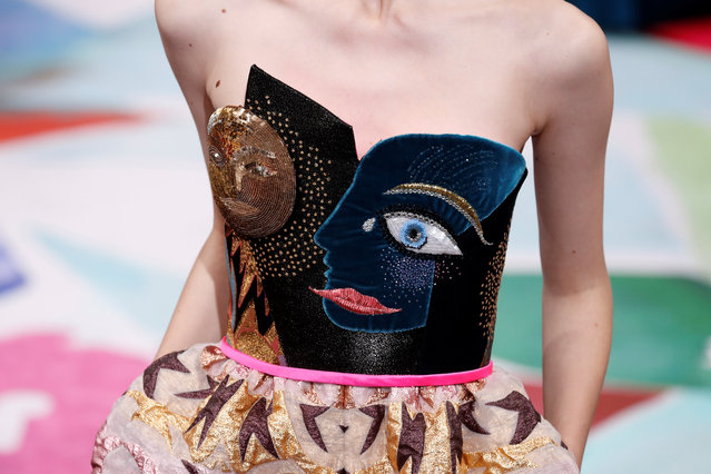 A model presents a creation by French designer Bertrand Guyon as part of his Haute Couture Fall Winter 2016/2017 fashion show for Schiaparelli in Paris, France, July 4, 2016. (Photo by Benoit Tessier/Reuters)
