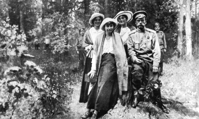 Tsar Nicholas II of Russia (1868–1918) and members of his family during their captivity in Tobolsk from September 1917 to April 1918.