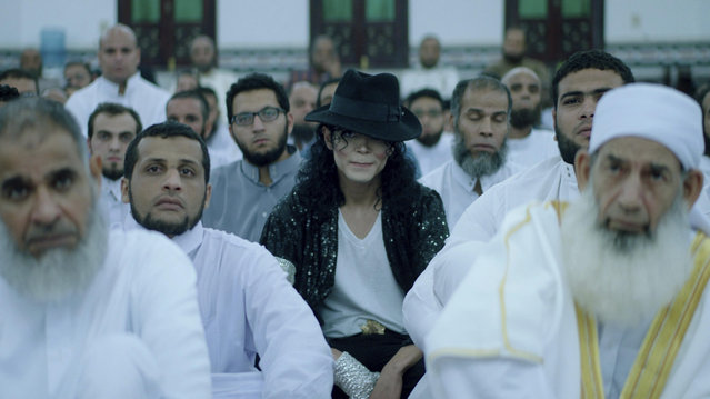 "This undated image released by production company Film Clinic, shows a scene from the film ""Sheikh Jackson"". In the new Egyptian film, an ultra-conservative Muslim is torn by his love of Michael Jackson, mirroring a country's struggle between traditions and modern global influences. (Photo by Film Clinic via AP Photo)"