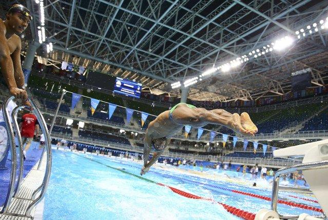 Rio Olympics, Swimming training, Olympic Aquatics Stadium, Rio de Janeiro, Brazil on August 4, 2016. Nicolas Oliveira (BRA) of Brazil during training. (Photo by David Gray/Reuters)