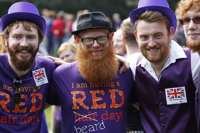 The Redhead Day is celebrated annually at the old Dutch city on the first weekend in September . (Photo by Arie Kievit/EPA)