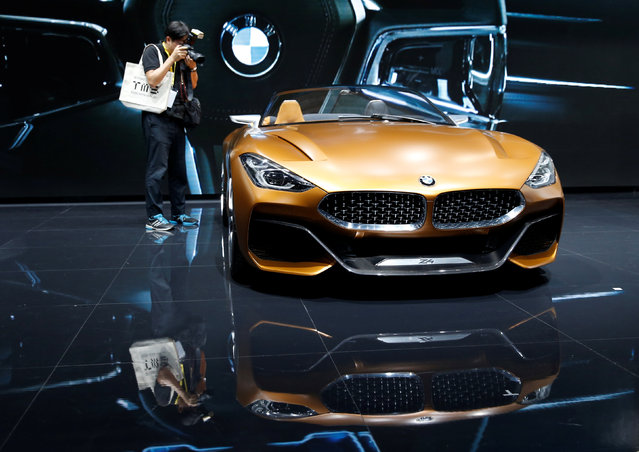 A BMW Z4 concept car is displayed during media preview of the 45th Tokyo Motor Show in Tokyo, Japan on October 25, 2017. (Photo by Toru Hanai/Reuters)