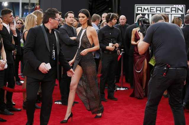 Model Kendall Jenner arrives at the 42nd American Music Awards in Los Angeles, California November 23, 2014. (Photo by Danny Moloshok/Reuters)