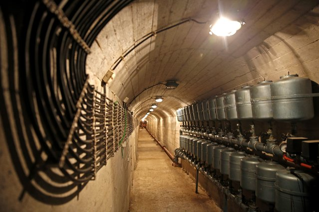 A tunnel with electric switches are seen in Josip Broz Tito's underground secret bunker (ARK) in Konjic, October 16, 2014. (Photo by Dado Ruvic/Reuters)
