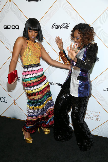 (L-R) Tiffany Haddish and Yvonne Orji attend the Essence 11th Annual Black Women In Hollywood Awards Gala at the Beverly Wilshire Four Seasons Hotel on March 1, 2018 in Beverly Hills, California. (Photo by Phillip Faraone/Getty Images)