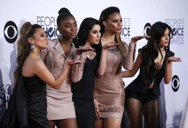 Girl Group Fifth Harmony arrive at the 2015 People's Choice Awards in Los Angeles, California January 7, 2015. (Photo by Danny Moloshok/Reuters)
