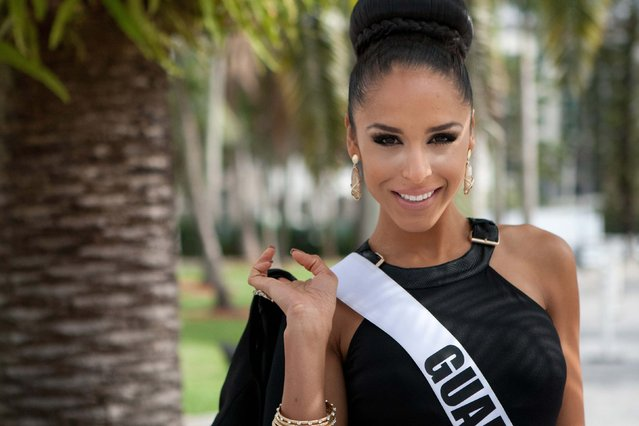 Miss Guam 2014 Brittany Bell poses for photographs at the 63rd Annual Miss Universe Pageant in Miami, Florida, in this January 8, 2015, handout photo. (Photo by Reuters/Miss Universe Organization)