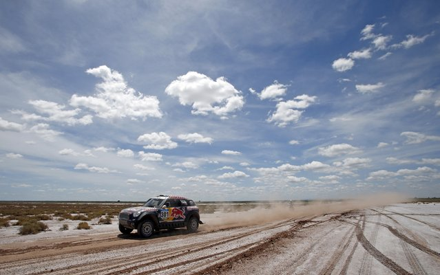 Mini driver Nasser Al-Attiyah of Qatar drives during the 2nd stage of the Dakar Rally 2015, from Villa Carlos Paz to San Juan January 5, 2015. (Photo by Jean-Paul Pelissier/Reuters)